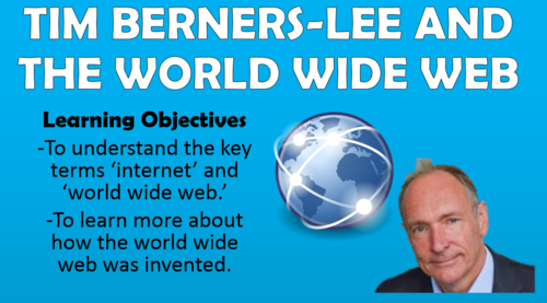 Tim Berners-Lee and the World Wide Web - KS2 Computing Lesson!
