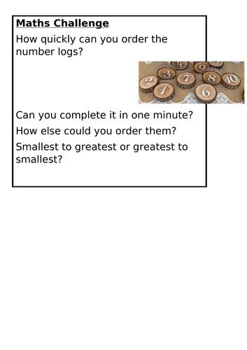 KS1 Continuous Provision Maths Challenges