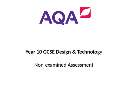 Introduction to GCSE D&T Non-examined assessment
