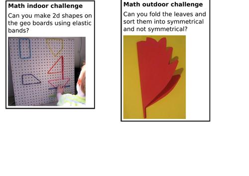 KS1 Continuous Provision 2D Shape math challenges