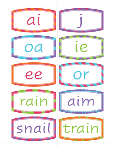 Jolly Phonics sight word phonics and words group 4