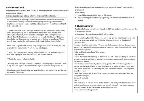 A Christmas Carol GCSE Questions