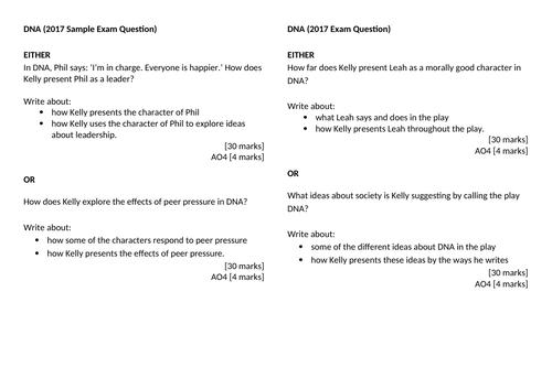 DNA GCSE Practice Questions