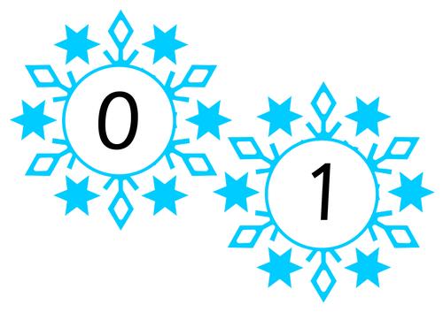 Snowflake Numbers 0-20