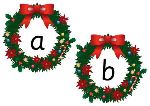 Wreath Alphabet Cards