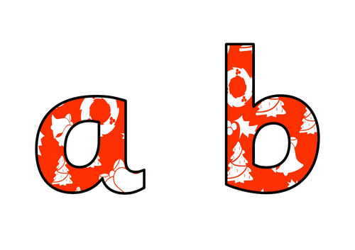Christmas Display Lettering - Red