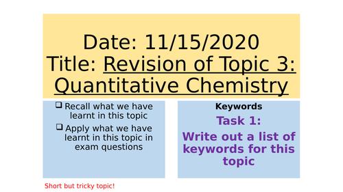 AQA C3 Revision Lesson (Foundation)