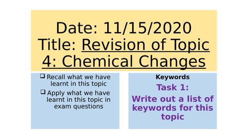 AQA C4 Revision Lesson