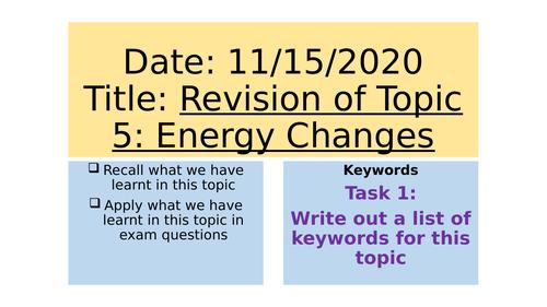 AQA C5 Revision Lesson
