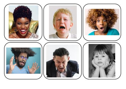 Emotions photos and words matching - Autism/ASC/SEN/English/PSHE