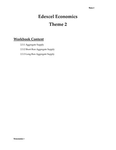 Edexcel Economics Theme 2: 2.3.1- 2.3.2 - 2.3.3 Aggregate Supply