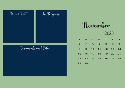 November Desktop Organiser