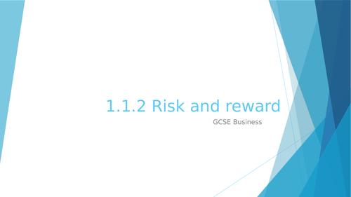 1.1.2 Risk and reward