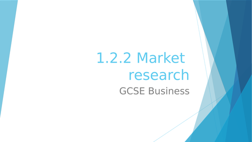 1.2.2 Market research