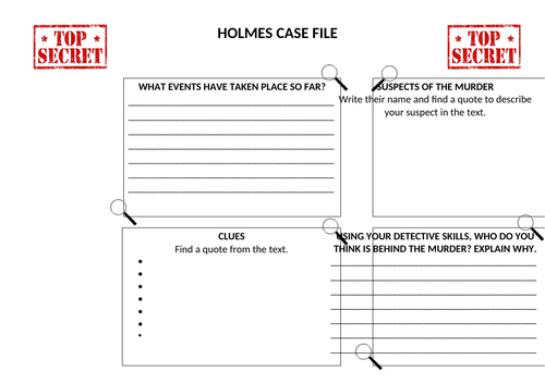 Detective Case File Sherlock Holmes