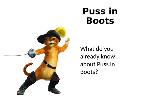 Puss In Boots OCR A Level