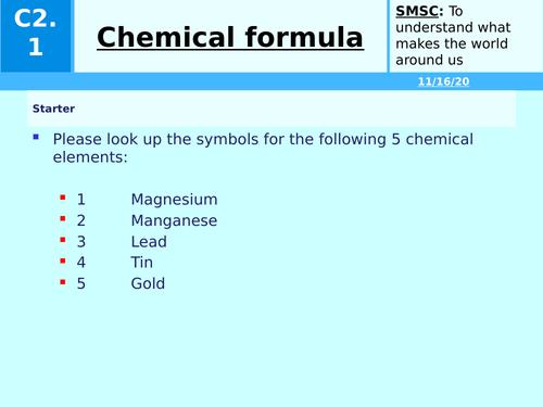 KS3 Chemical formula