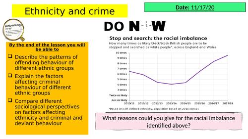 AQA GCSE Sociology: Ethnicity and crime