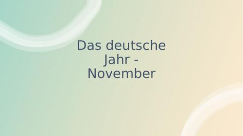 Calendar of Life in Germany - November