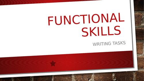 Functional Skills English - E3 / Level 1 Writing Tasks
