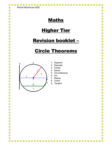 Revision booklet - Circle theorems