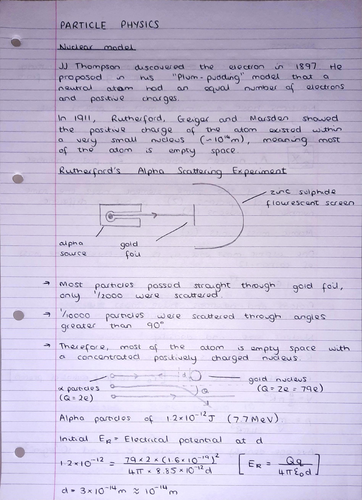 A Level Physics Notes: Particle Physics