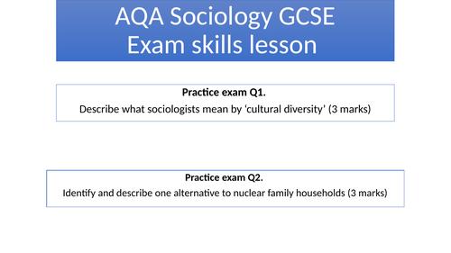 AQA Sociology GCSE Exam Skills