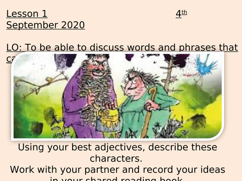 The Twits Shared Reading Unit of Work (Yr 3/4)