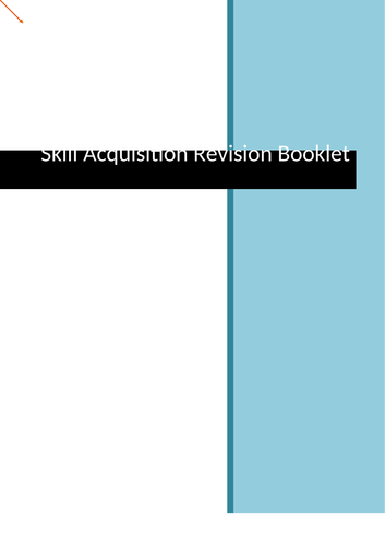 AQA A level PE - Skill Acquisition Revision Work Book