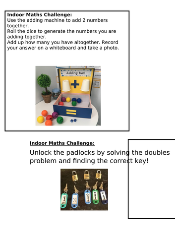 Addition KS1 Continuous Provision Challenges