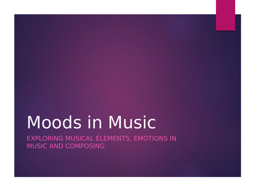 Musical Elements, Emotions and Composing unit - Anger