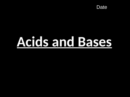 Acids and Bases (C4.1)
