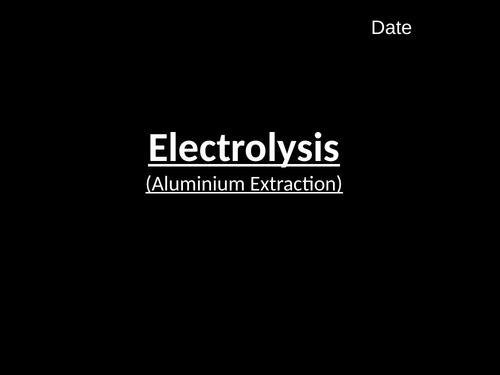 Electrolysis (Aluminium) (C4.7)