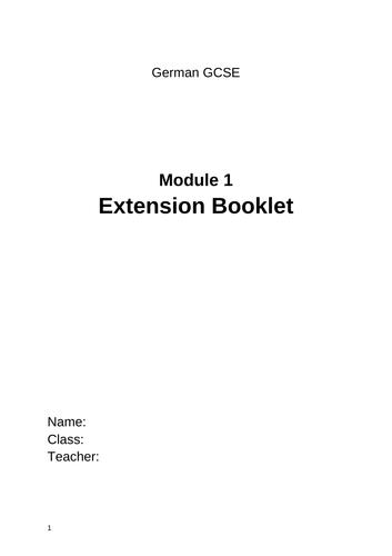 AQA German GCSE Module 1 Extension Booklet
