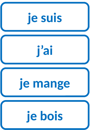 French Tenses Timeline display