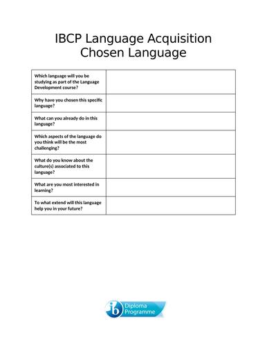 IBCP Language Development Scheme of Work and Portfolio