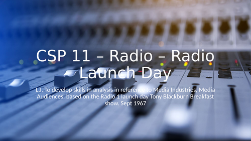 AQA CSP Radio 1, Apple Beats