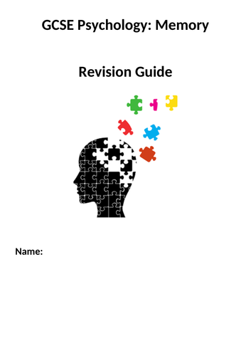 GCSE  PSYCHOLOGY - MEMORY REVISION GUIDE