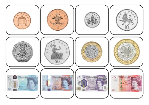 UK/British Money/Coins - Matching Task/Autism/ASC/SEN/Maths