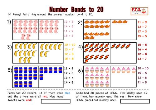 Number Bonds to 20 Resource