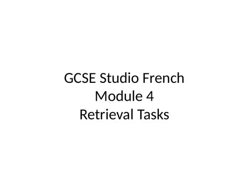 GCSE Studio French Mod 4 Retrieval Tasks