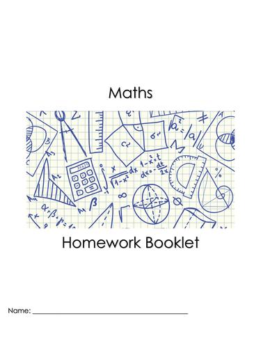 Maths Homework Booklet