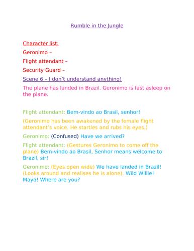 Playscript writing bundle KS2