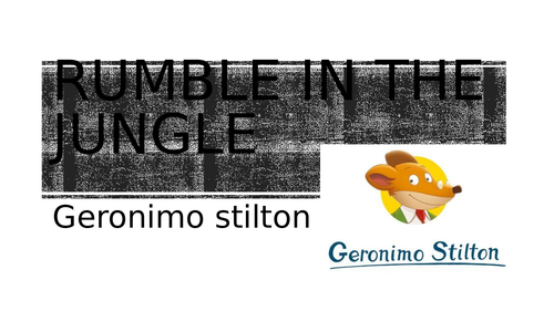 Rumble in the Jungle comprehension pack