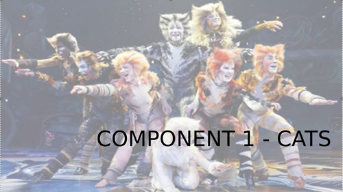 BTEC Dance Level 2 Tech Award Component 1 CATS powerpoint lessons