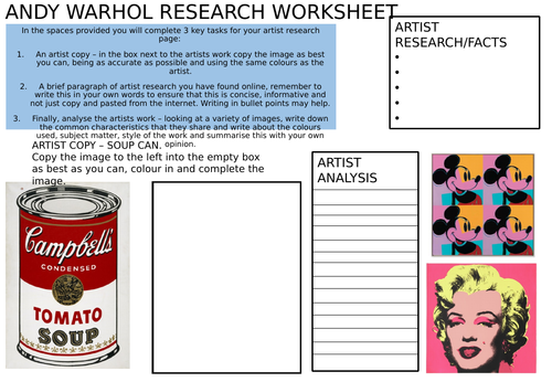 Andy Warhol Research page