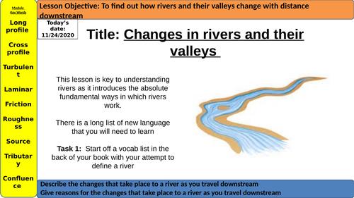 FREE 11 Lessons - AQA GCSE UK physical Landscapes Rivers Whole Unit