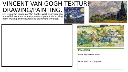 Van Gogh texture drawing homework