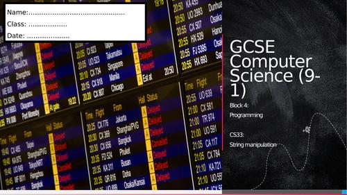 CS33: String Manipulation (Workbook)