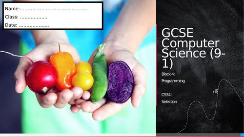 CS34: Selection (Workbook)